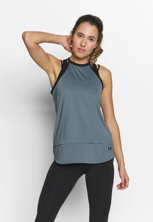 SPORT TANK - Sports shirt - hushed turquoise/black