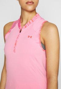 Under Armour - ZINGER SLEEVELESS ZIP - Funkční triko - lipstick - 4