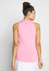Under Armour - ZINGER SLEEVELESS ZIP - Funkční triko - lipstick - 2