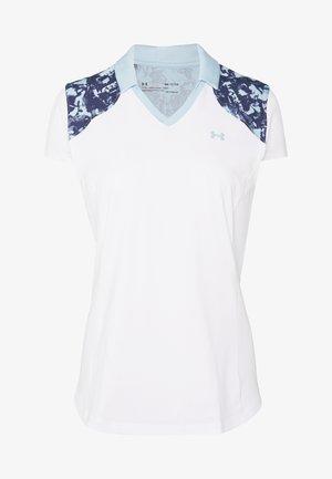 ZINGER BLOCKED - T-shirt print - white/blue frost