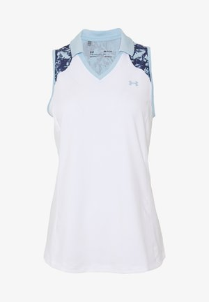 ZINGER SLEEVELESS BLOCKED POLO - Top - white/blue frost