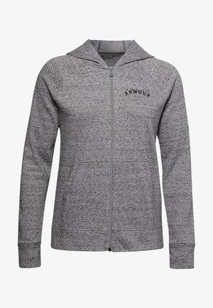 veste en sweat zippée - dark grey/black