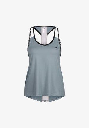 KNOCKOUT TRAININGSTANK DAMEN - Sports shirt - hushed turquoise