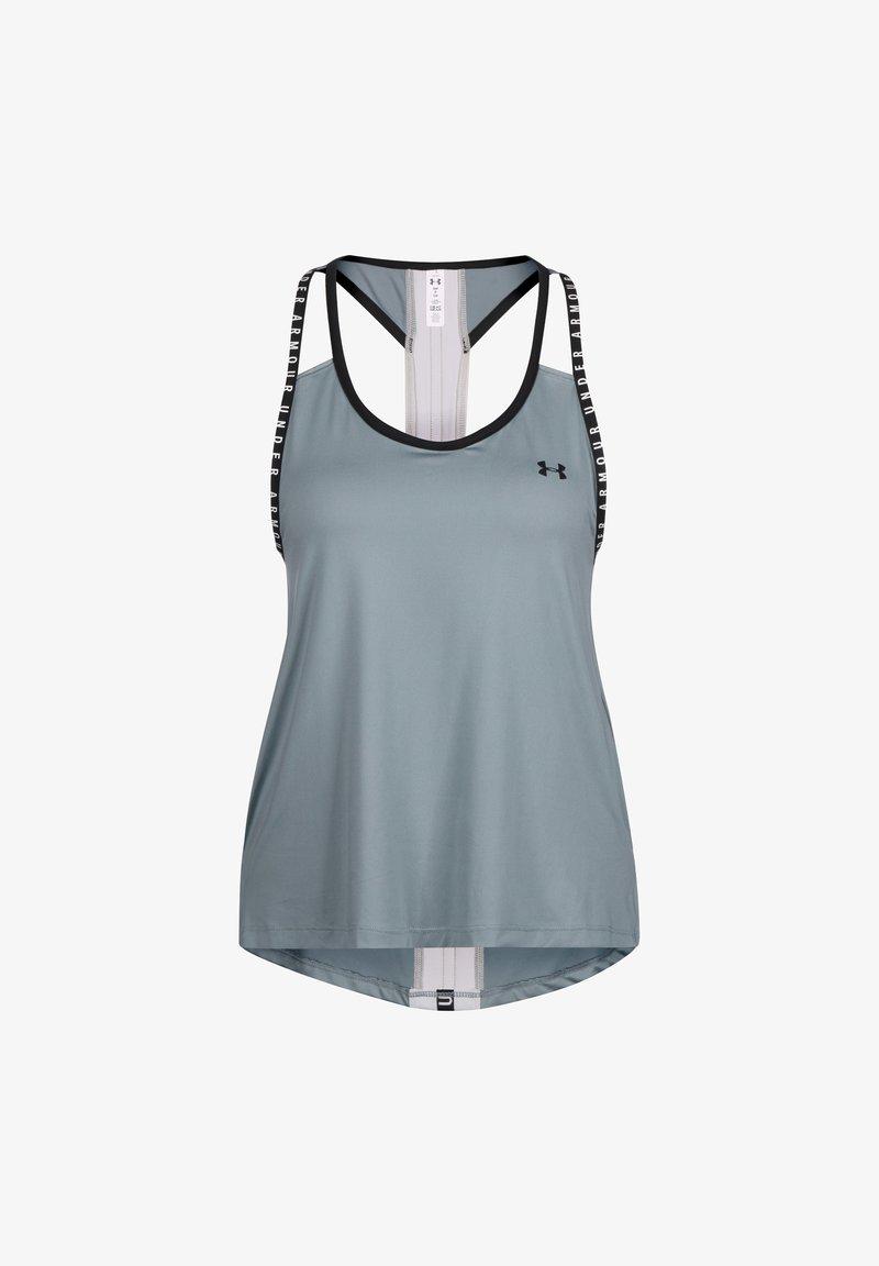Under Armour - KNOCKOUT TRAININGSTANK DAMEN - Sports shirt - hushed turquoise
