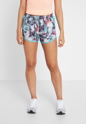FLY BY PRINTED SHORT - kurze Sporthose - white