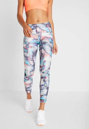 FLY FAST  - Leggings - black/breathtaking blue