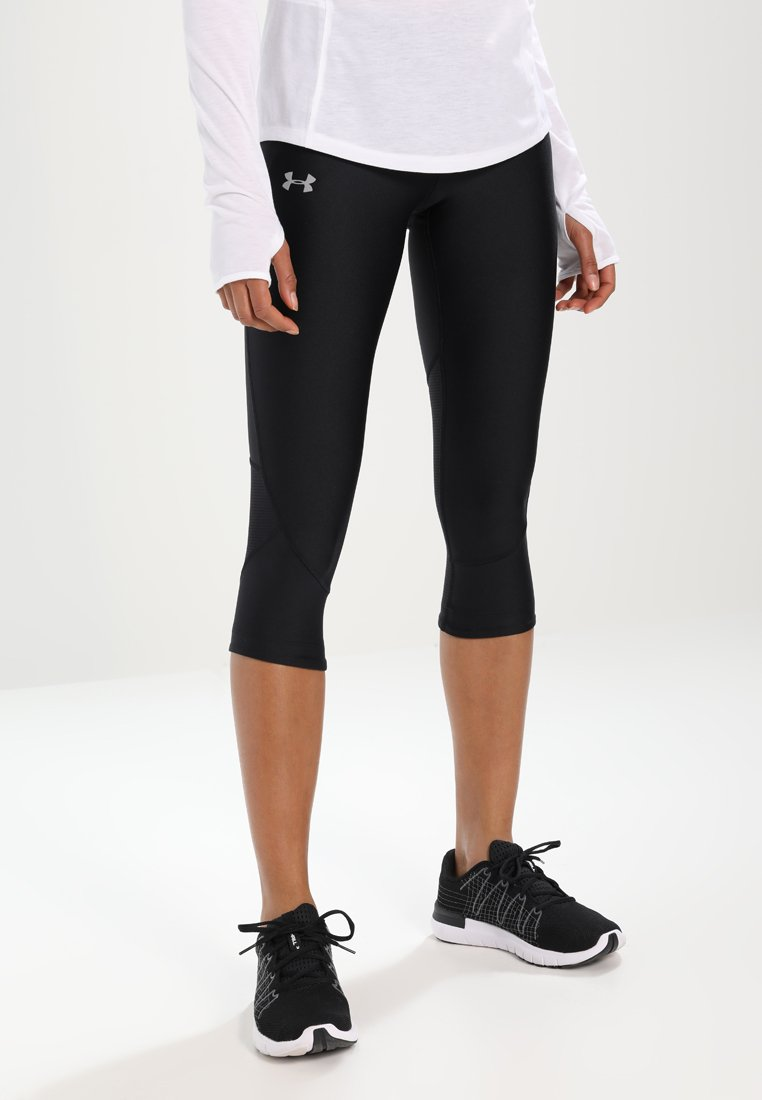 Under Armour - FLY FAST CAPRI - 3/4 sports trousers - black