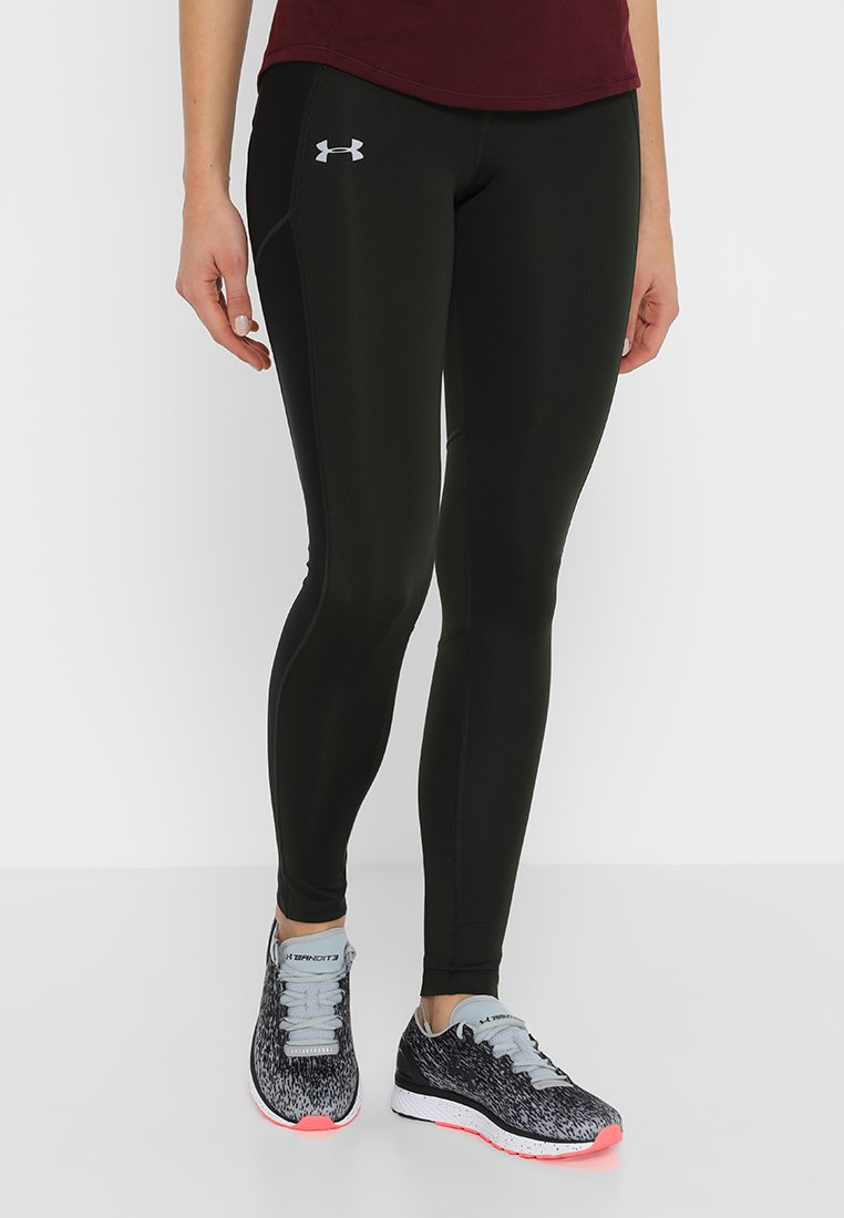 Under Armour - COLDGEAR RUN  - Tights - artillery green/black