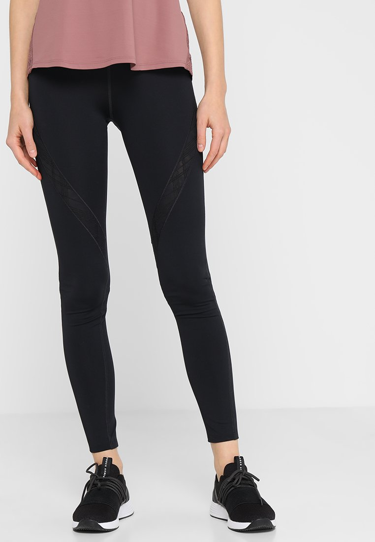 Under Armour - MISTY EMBROIDERED  - Leggings - black/tonal