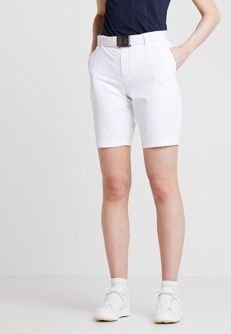 Under Armour - LINKS SHORT - kurze Sporthose - white/mod gray