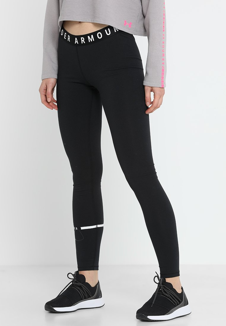 Under Armour - FAVORITE BIG LOGO LEGGING - Tights - black/white