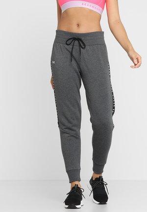 TAPED PANT - Verryttelyhousut - black/white