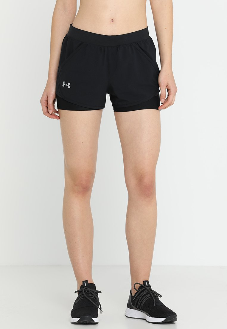 Under Armour - FLY BY MINI 2-IN-1 - kurze Sporthose - black/black/reflective