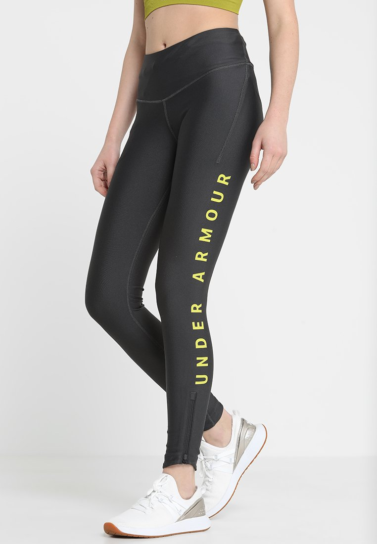 Under Armour - ARMOUR FLY FAST SPLIT  - Tights - jet gray/lima bean