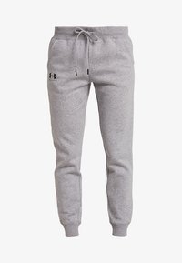 Under Armour - RIVAL SPORTSTYLE GRAPHIC PANT - Teplákové kalhoty - steel medium heather - 3
