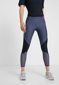 Under Armour - SHINE ANKLE CROP - Tights - downpour gray/metallic silver - 0