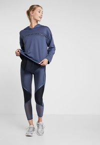 Under Armour - SHINE ANKLE CROP - Tights - downpour gray/metallic silver - 1