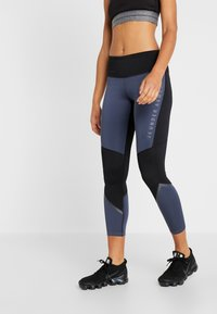 Under Armour - LEGGING GRAPHIC - Punčochy - downpour gray/black/tonal - 0