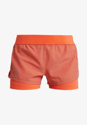 QUALIFIER SPEEDPOCKET SHORT - Krótkie spodenki sportowe - coral dust / peach plasma / reflective