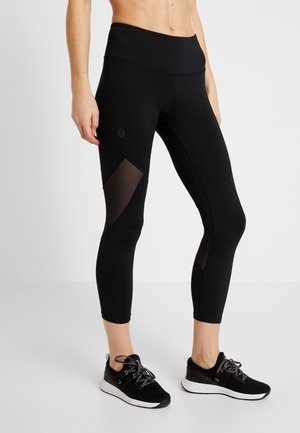 RUSH CROP - Legginsy - black