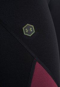 Under Armour - RUSH LEGGING - Tights - black/level purple - 7