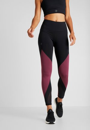 RUSH LEGGING - Tights - black/level purple