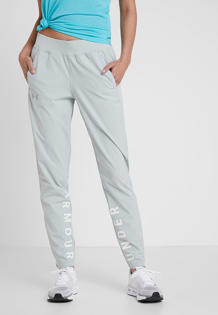 Under Armour - STORM LAUNCH LINKED UP PANT - Jogginghose - green/halo gray/reflective