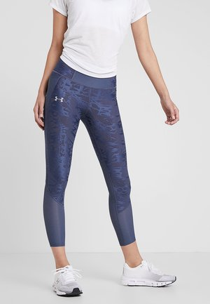 QUALIFIER SPEEDPOCKET SMUDGED CROP - Tights - downpour gray/reflective
