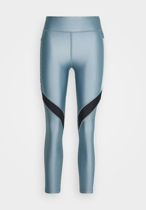 SPORT ANKLE CROP - Leggings - hushed turquoise/halo gray/halo gray