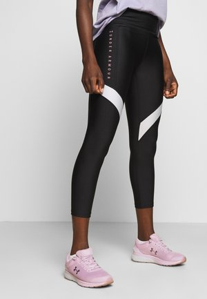 SPORT ANKLE CROP - Legginsy - black/hushed pink