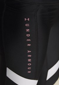 Under Armour - SPORT ANKLE CROP - Leggings - black/hushed pink - 5