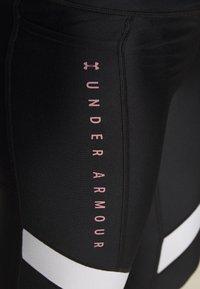 Under Armour - SPORT ANKLE CROP - Collants - black/hushed pink - 5