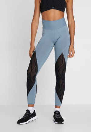 RUSH VENT LEGGINGS - Legginsy - hushed turquoise/black