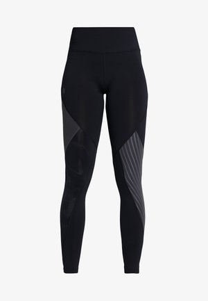 RUSH EMBOSSED LEGGINGS - Punčochy - black/jet gray