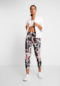 Under Armour - RUSH ELECTRIC PRINTED CROP - Tights - black - 1
