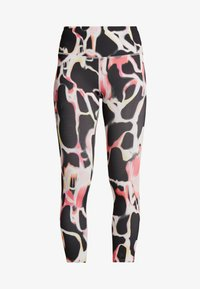 Under Armour - RUSH ELECTRIC PRINTED CROP - Tights - black - 3