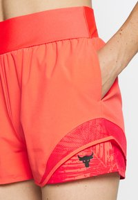 Under Armour - PROJECT ROCK TRAIN SHORTS - Sports shorts - rush red/black - 4