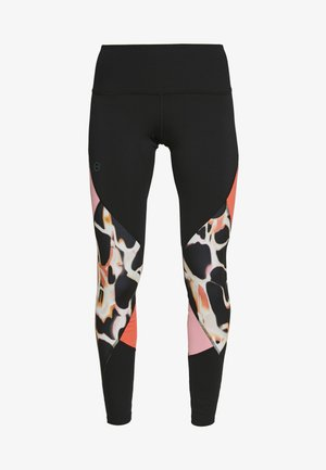 RUSH PRINT COLOR BLOCK - Tights - black/beta