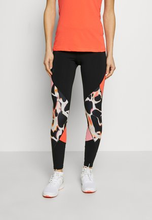 RUSH PRINT COLOR BLOCK - Legging - black/beta