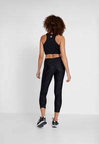 Under Armour - PRINTED ANKLE CROP - Tights - black/metallic silver - 2