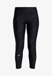 Under Armour - PRINTED ANKLE CROP - Tights - black/metallic silver - 3