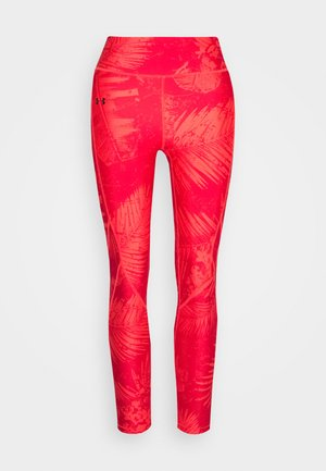 PROJECT ROCK PRINTED ANKLE CROP - Leggings - rush red/black