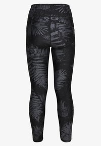 Under Armour - PROJECT ROCK PRINTED ANKLE CROP - Collants - black/summit white - 1