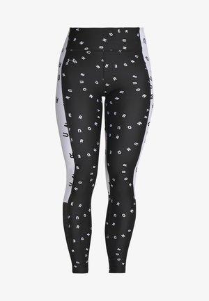 CONTRAST PRINTED LEGGINGS - Leggings - black/white/metallic silver