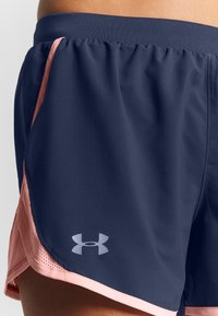 Under Armour - FLY BY SHORT - Short de sport - blue ink/peach frost - 4