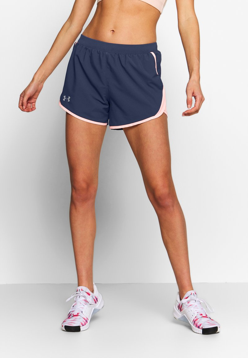 Under Armour - FLY BY SHORT - Short de sport - blue ink/peach frost