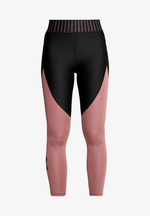 COLOR BLOCK GRAPHIC ANKLE CROP - Tights - black /hushed pink