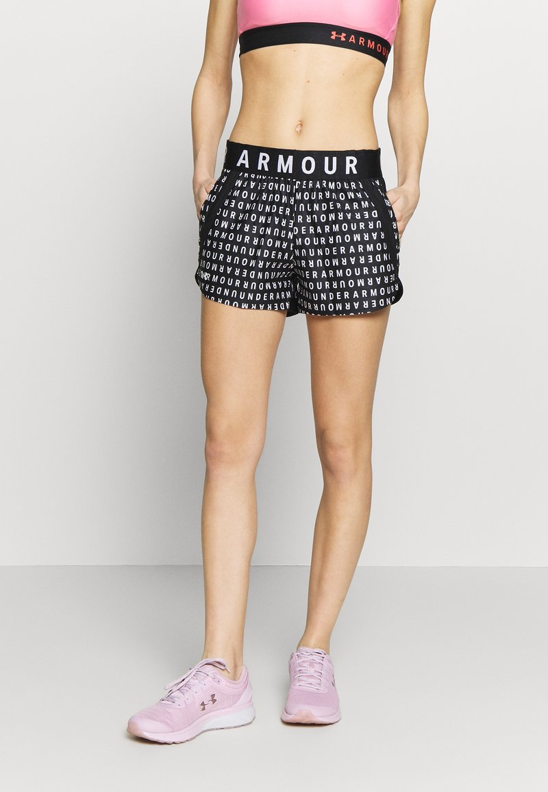 Under Armour - PLAY UP 3.0 PRINTED SHORTS - Sports shorts - black/white