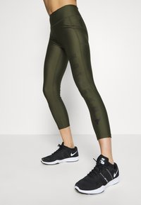 Under Armour - PROJECT ROCK WARRIOR CROP - Leggings - guardian green/black - 3