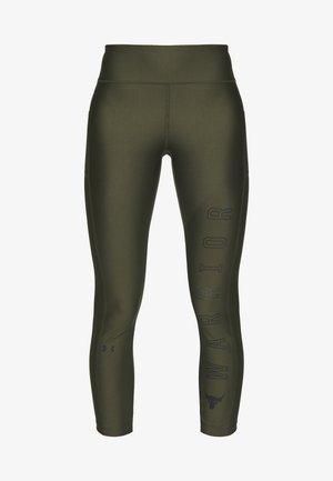 PROJECT ROCK WARRIOR CROP - Tights - guardian green/black